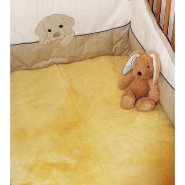 Art.-Nr. 574 - Lammfell-Betteinlage für das Kinderbett