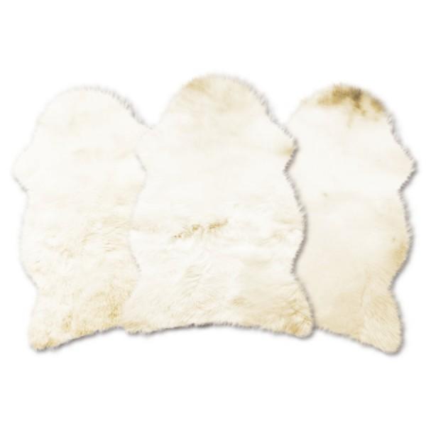 Neuseeländische Lammfelle, Art.Nr. 2830, weißgründig mit naturfarbenen Spitzen