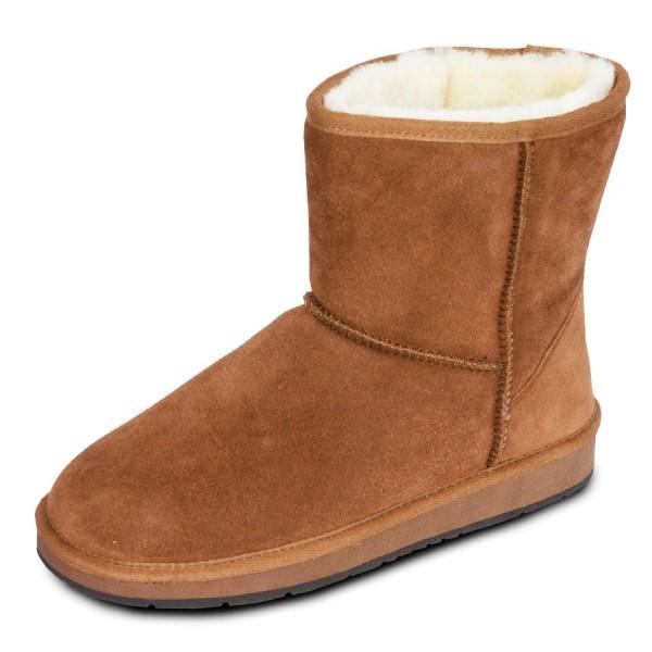 Art.-Nr. 371 - Damen Lammfell-Boots, camel