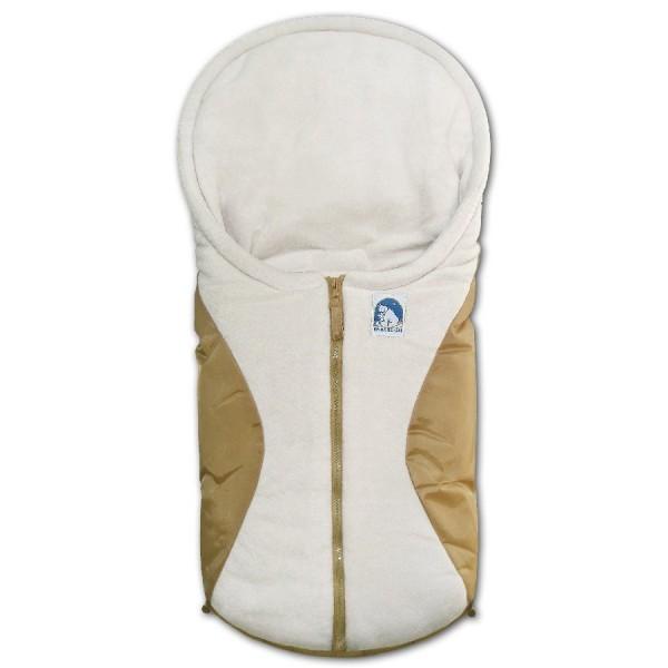 Art.-Nr. 7963 SB - Kleiner Fußsack - beige - sand / sand
